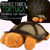 Peluche Tortuga Musical Proyector De Estrellas Y Luna