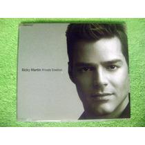 Cd Maxi Ricky Martin & Meja Private Emotion 4 Tracks Menudo