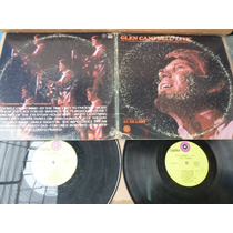 Glen Campbell Live 2 Lp Capitol Gently On My Mind