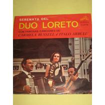 Duo Loreto Serenata Disco Lp Vinilo