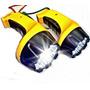 Set 3 Potentes Linternas 15 Led Recargables Seguridad Ahorro