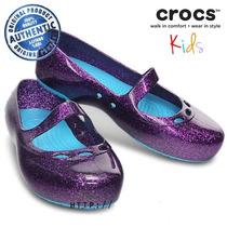 Balerinas Crocs Carlisa Glitter Talla 10 (27) Morado
