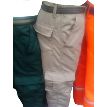 *pantalon Industrial Multibolsillo Cargo En Drill *