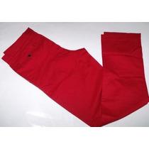 Pantalon T/36 Reg Fit Carolina Herrerra Rojo,blanco 38/40 !!