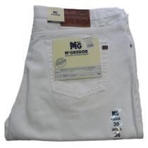 Jeans Blancos Clasicos De Hombres