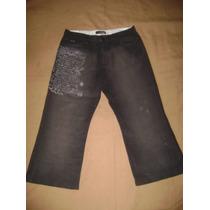 Hermoso Jeans Modelo Chavito O 3/4 Rip Curl En Buen Estado