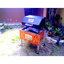 Caja China De Acero Inoxidable Con Parrilla Tapa Ahumadora