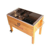 Caja China Mediana Acero Inoxidable + Parrilla Grillcorp