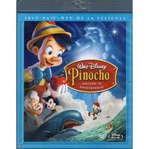 Blu-ray Original Pinocho Pinocchio Disney 3 Discos H Luske