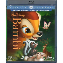 Blu-ray Original Bambi Walt Disney 2 Discos Dvd Blu-ray 1942