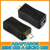 Adaptador Mini Usb Hembra A Micro Usb Macho Tablet