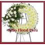 Arreglo Floral Fúnebre Para Sepelio Con Tarjeta