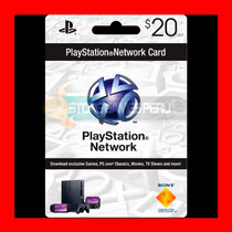 Play Station Network Card $20 Psn Store U. S. A (oferta )