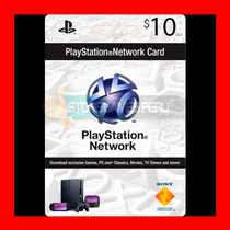 Play Station Network Card $10 Psn Store U. S. A (oferta )