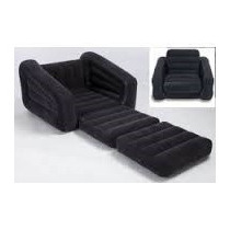 Sillon Sofa Cama Color Negro Intex 1 Plaza