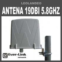 Antena Panel 5.8ghz 19dbi V H Importada + Recinto