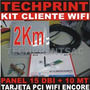 Kit Captura Wifi 2 Km Cliente Internet Gratis Panel 15 Dbi