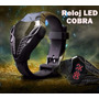 Relojes Led Cobra Con Luces Led Color Rojo