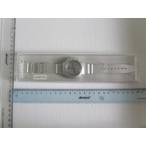 Reloj Swatch Vanadium Original Nuevo Plateado Super Sport