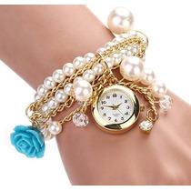 Reloj Pulsera Vintage Lindísima Moda Para Mujer