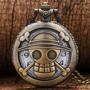 Reloj Collar Con Cadena Anime One Piece Luffy Jolly Roger