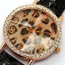 Reloj Pulsera Mujer Geneva Silicona Y Strass Remato