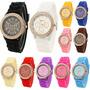 Reloj De Silicona Geneva Con Brillantes Delivery Gratis!