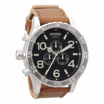 Reloj Nixon A124-1037 Cronógrafo 51mm Correa Cuero Nuevo