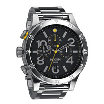 Reloj Nixon The 48-20 Cronógrafo A486-000 Plateado Nuevo