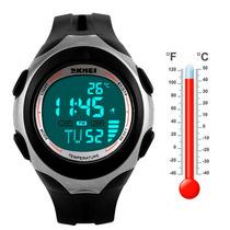 Reloj Skmei Indicador De Temperatura Digital Led