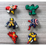 Avengers Jibbitz Pines Adornos Crocs 6 Unid X 20 Soles