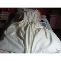 S/.550 Vestido De Novia Color Beige, Bordado A Mano