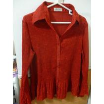 Blusa Americana Color Rojo Pasión En Talla M