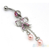 Hermoso Decorativo Exclusivo Piercing Ombligo Con Swarovski