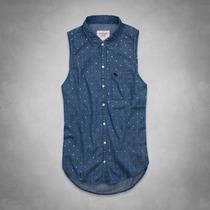 Camisa Blusa Denim Jean Abercrombie & Fitch Talla M 120