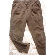 Pantalon Corduroy Mujer Verde Militar Marca Zara Talla 28
