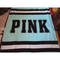 Frazada Polar Blanket Manta Pink Victoria Secret Verde