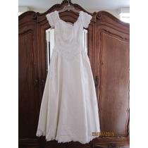 Lindo Vestido De Novia Shantung De Seda Ivory Importado Usa