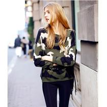 Claudia Shop Sweater Cardigan Militar Importado Pedido China