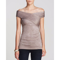 Guess Polo Cruzado Talla M Color Taupe