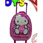 Mochila Con Ruedas+ Trolley 40cms Altura Hello Kitty