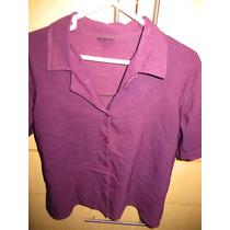Blusa Tipo Saco Corto Color Guinda Usado Talla L