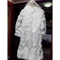 Preciosos Abrigo Blanco De Piel