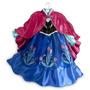 Vestido Disfraz Anna Frozen Deluxe Disney Store - Ana Elsa