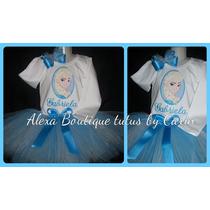 Frozen Vestido Tutu Tutus 3 Piezas Falda Polo Y Lazo