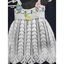 Lindo Vestidito Para Bebe Tejidos A Mano A Crochet.