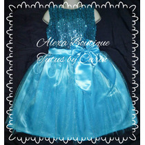 Vestido De Niña Fiesta , Frozen Lentejuelas Fino