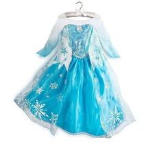 Vestido Disney Elsa Congelados Disfraz Princesa Ann Frozen