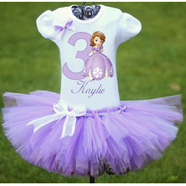 Princess Sofia Tutu Vestido Niña Bebe Cumpleaños Oferta