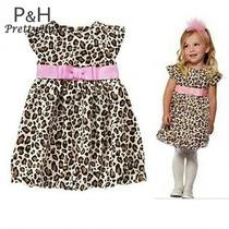 Vestido Para Niñas Animal Print
